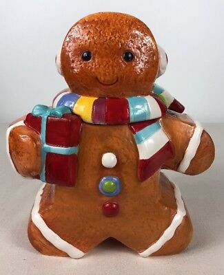 GINGERBREAD MAN/BOY WINTER Or CHRISTMAS COOKIE JAR