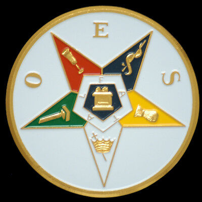 Order of the Eastern Star OES Car Auto Emblem-New!