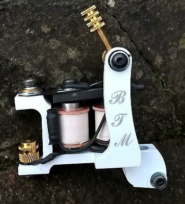 Border Tattoo Machine,packer Custom Micro Iron Frame White 10 Layer 25Mm Coils