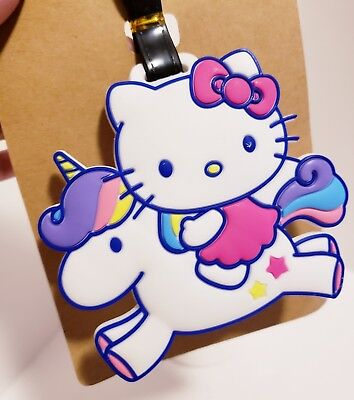 Unicorn Hello Kitty Luggage Tag US Seller Holder Travel Baggage Holder Cute NEW