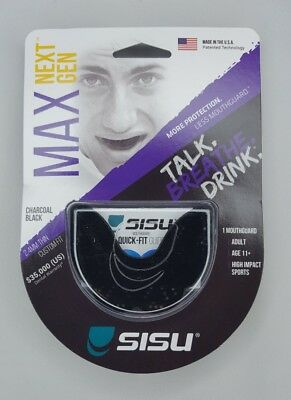 SISU NextGen Max Guard 2.4 mm Adult Mouthguard hockey football Ships From U.S.A