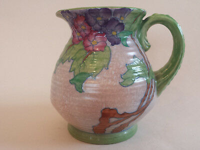 Unusual Art Deco Charlotte Rhead Crown Ducal 3797 'Hydrangea'Tubelined Jug 192
