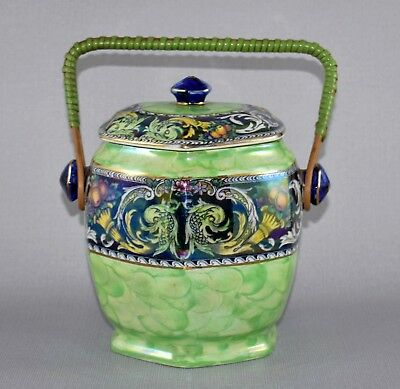 "Art Deco Maling Lustre Ware ""Classic"" Storage Biscuit Jar C1930"