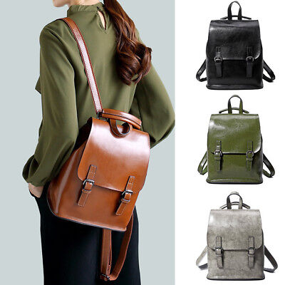 Chic Women s Real Leather Small Backpack Rucksack Daypack Travel bag Purse  Cute 7f66f70911b28