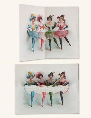 Victorian Trading Co 4 Kick Up Your Heels! Pop Up Mechanical Cards