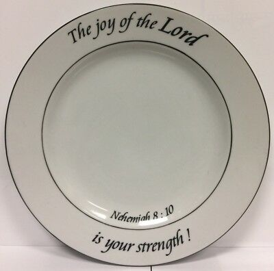 """COVENTRY Daily Blessings """"The Joy of the Lord is your Strength"""" Plate Cookware"""