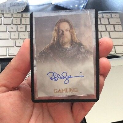 Lord Of The Rings Trilogy TOPPS Chrome Gamling Bruce Hopkins Autograph