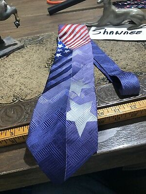 NEW USA Shaped American Flags Patriotic Flag Veteran Novelty Necktie #1221-L