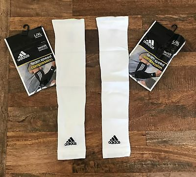 60874654e1 ADIDAS Techfit Seamless Team Speed Compression Single Arm Sleeve in White -  L/XL