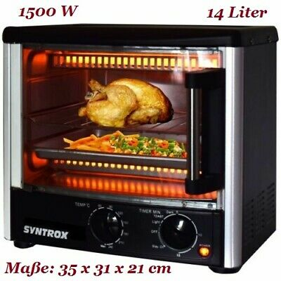 Mini Backofen 14 Liter Single / Camping Kleinbackofen *Syntrox Germany*