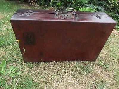 Vintage Old Suitcase Wooden Storage Box , Trunk Small