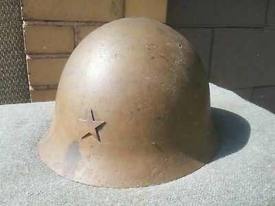 WWII WW2 JAPANESE TYPE 90 HELMET COMPLETE w/ LINER & CHIN STRAP