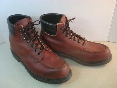 e2cd7465e3a RED WING CLASSIC 204 Boots Moc Toe SUPERSOLE Work Hunt Mens 9.5 USA Nice