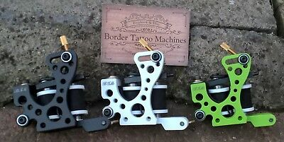 Set Of 3 Border Tattoo Machines Liner & Packer & Shader Custom Frames 32Mm Coils