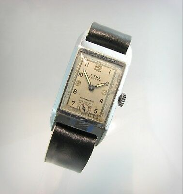 Rare WW2 TITUS GENEVE / MOVADO / Art-Deco..Chatons..15 Jewels..40's..Swiss.