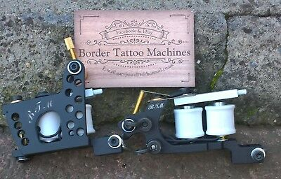 Pair Of Border Tattoo Machine,liner & Packer Custom Iron Frames,custom Coils