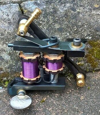 Border Tattoo Machine Soft-Shader Custom Blued Iron Frame Purple Custom Coils