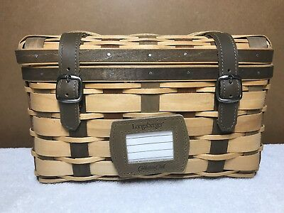Longaberger 2007 Collectors Club ACT Trunk Basket w Protector Tie On