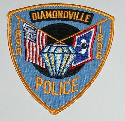 DIAMONDVILLE POLICE Wyoming US WY Flags