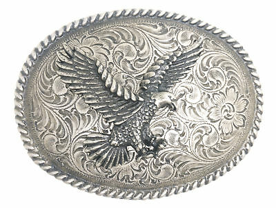 American Bald Eagle Antique Silver Western Belt Buckle