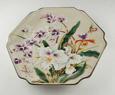 """Asian Toyo White Orchid Plate Japan 7.5"""""""