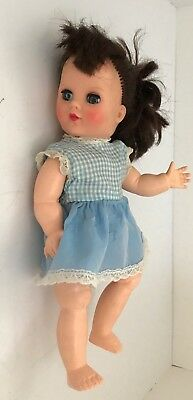 """Vintage 10"""" walking doll, 1950s, articulated limbs, moving head"""
