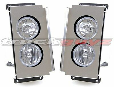 2006-2010 Volvo VT Series 800 830 880 Truck Fog Light Assembly Chrome PAIR