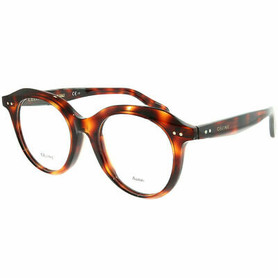 4f9ec24e4253 Celine Asian Fit CL 41461 F 086 Dark Havana Plastic Round Eyeglasses 47mm