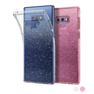 Galaxy Note 9 Case | Spigen® [Liquid Crystal Glitter] Clear TPU Protective Cover
