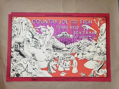 Country Joe & the Fish 1968 Fillmore poster original acid hippie illustration