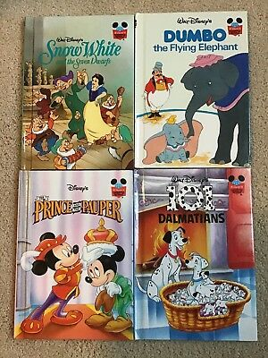 Vintage Lot of 4 Walt Disney's Wonderful World of Reading Books~Hard Cover