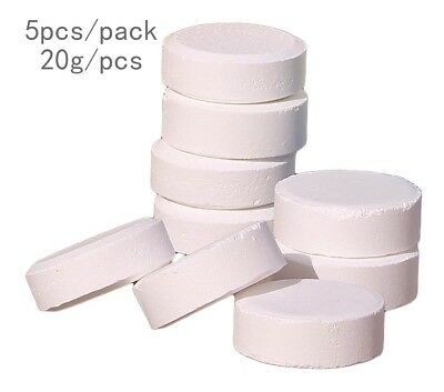 5*20g Chlorine Tablets 5In1 Multifunction Swimming Pool Hot Tub SPA White Color