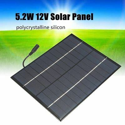12V 5.2W Mini Solar Panel DIY Module System Battery Charger + DC output N8S2
