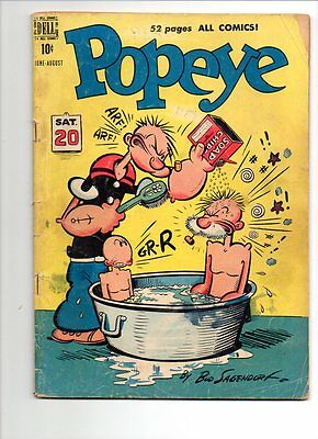 Popeye Lot Of Two # 13 (Creepy Cover) & 23 Low Gradelot