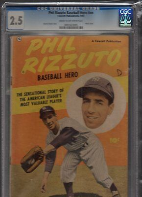 Phill Rizzuto Baseball Hero One Shot Fawcett 1951 Cgc 2.5 Cream To Off White