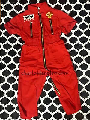80s Michelin Baby Racing Team Pit Crew Jumpsuit Oufit Halloween Costume