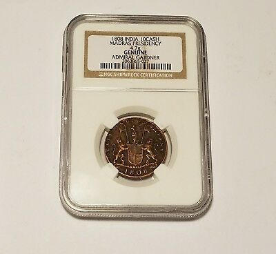 NGC Certified Authentic Shipwreck Coin - East India Company 1808 SEE DESCRIPTION