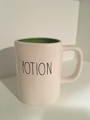 New Rae Dunn Halloween Potion Large Letter Mug Green Inside