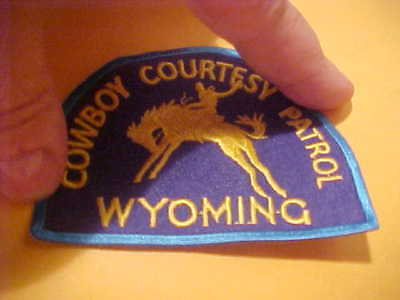 Wyoming Cowboy Courtesy Patrol Police Patch Shoulder Size Unused