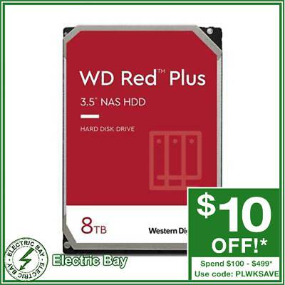 "New Western Digital WD Red 8TB 3.5"" SATA Internal NAS Hard Drive HDD 5400RPM"