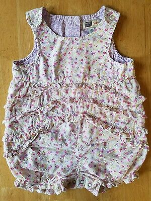 Baby Girls Clothes, Floral Print/Eyelet Outfit, Size 3-6 Months, Faded Glory