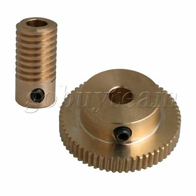 5mm Hole Dia Brass Worm Gear Shaft 60T Gear Wheel DIY Repleace Tool Set