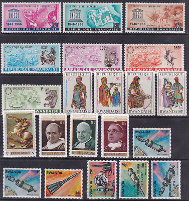 Rwanda - Nice Lot Of Mint Sets - Selection Of 21 Stamps