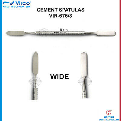 NEW Amalgam Mixing Spatula Dentist Laboratory Lab Double Ended Spatula Wide CE