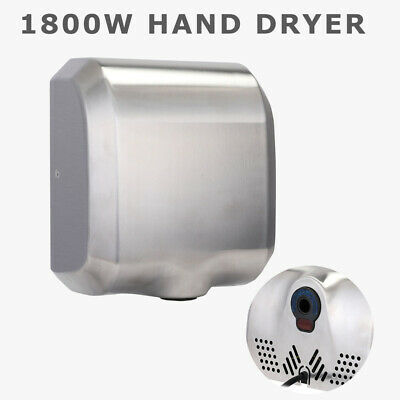 High Speed Commercial Automatic Eco Heavy Duty Stainless Steel Hand Dryer 1800W