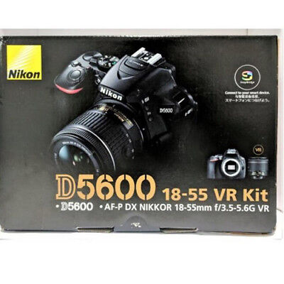 Nikon D5600 AF-P DX 18-55mm f/3.5-5.6G VR Black (Multi) stock from EU nuovo