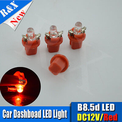 4x Red B8.5D T5 Gauge LED Speedo Wedge Dashboard Dash Interior Car Light Bulb