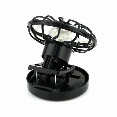 Black C-On Solar Cell Fan Sun Power Energy Cooling Great for traveling P3K7
