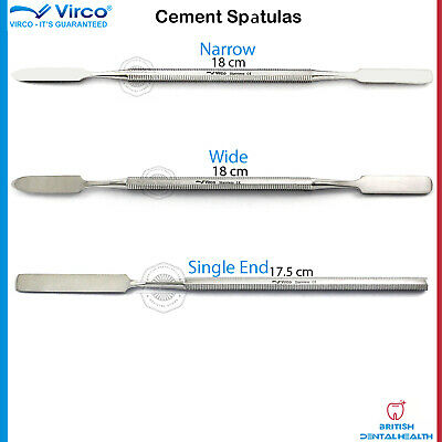 3X Dental Cement Spatula Narrow Wide Single End Amalgam Mixing Flexible Spatula