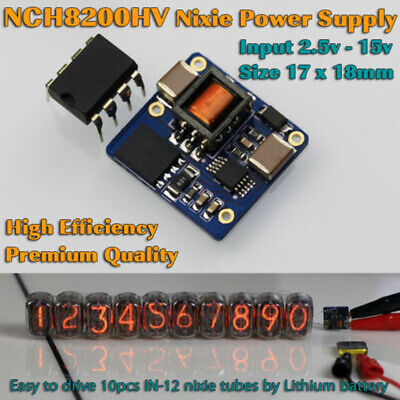NCH8200HV High Voltage DC Power Module Supply for Nixie Tubes 2.5-15V Volt Input